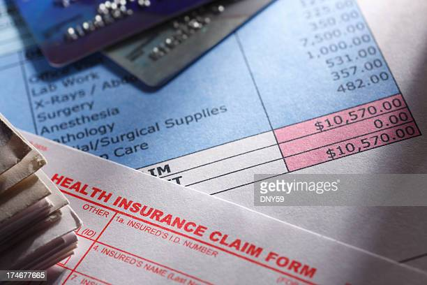 health insurance claim form - financial bill stock pictures, royalty-free photos & images
