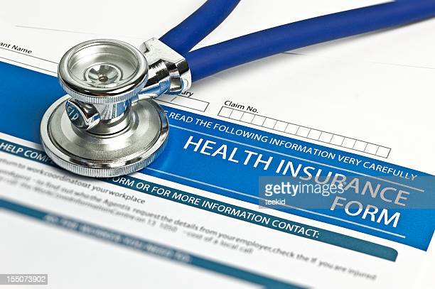 health insurance form - health insurance stock pictures, royalty-free photos & images