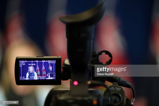 Health Minister Christine Elliott answers a question as she and Premier Doug Ford and Minister of Finance Rod Phillips take questions during the...