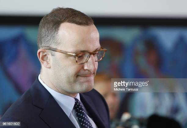 Health Minister Jens Spahn arrives for the weekly cabinet meeting in the German Chancellory on May 23 2018 in Berlin Germany