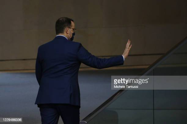 Health Minister: Jens Spahn , leaves after he addressed the members of parliament during a report on the actual situation of the Covid-19 Pandemic in...