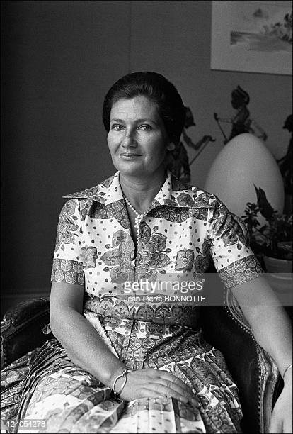 Health Minister Simone Veil In Paris France On June 17 1974 Simone Veil at home
