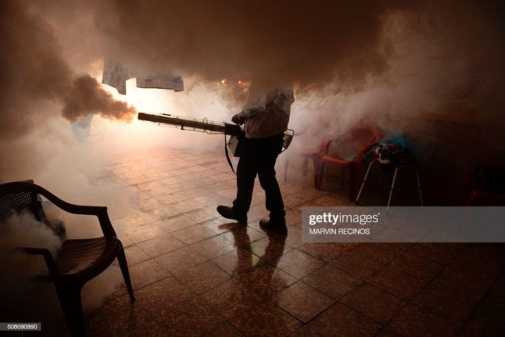 TOPSHOT-EL SALVADOR-HEALTH-AEDES AEGYPTI-VIRUS : News Photo