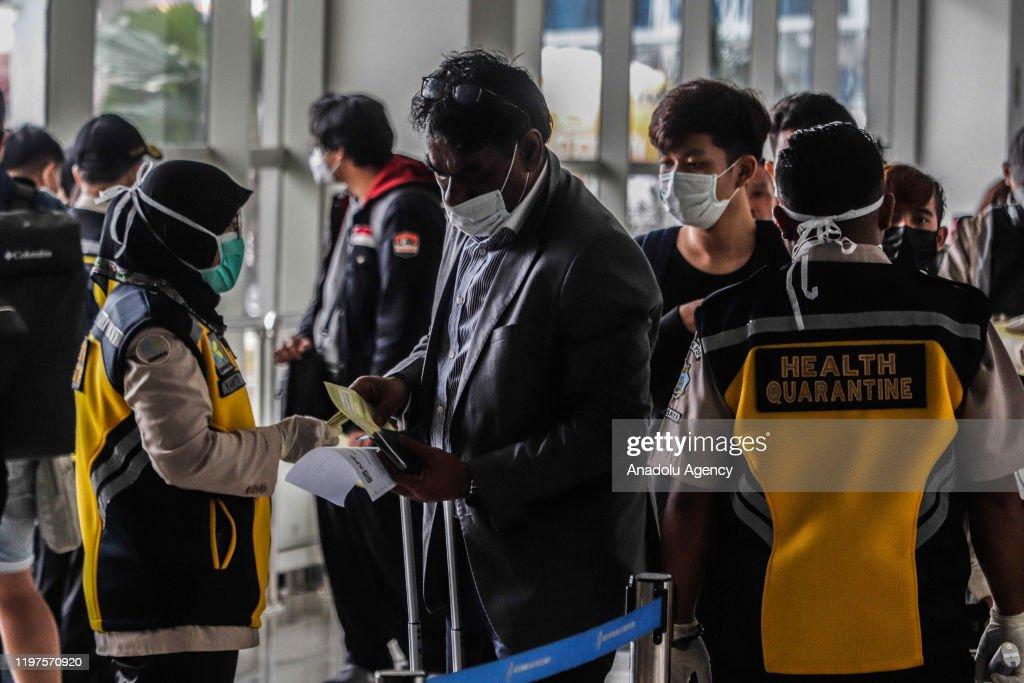 Indonesia airport screens travelers following Coronavirus outbreak : ニュース写真