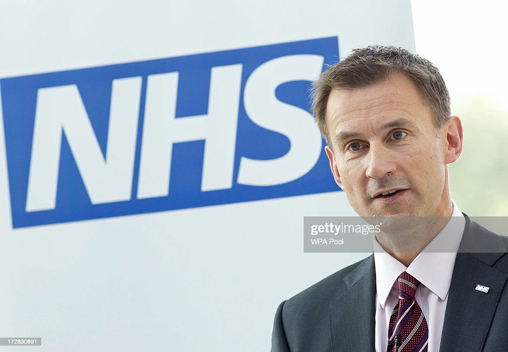 David Cameron And Jeremy Hunt Visit A Hospital To Mark The 65th Anniversary Of The NHS : News Photo