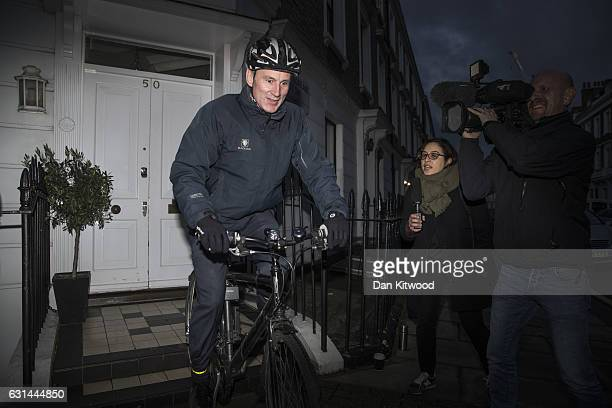 Health Secretary Jeremy Hunt leaves his home on January 11 2017 in London England According to documents leaked to the BBC record numbers of patients...