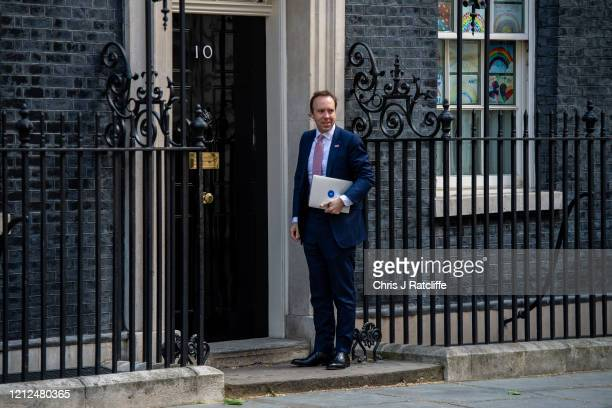 Health Secretary Matt Hancock arrives at 10 Downing Street on May 11 2020 in London United Kingdom The prime minister announced the general contours...