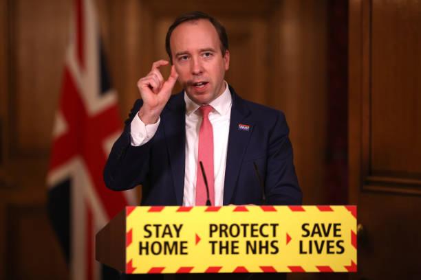 GBR: Matt Hancock Leads Downing Street Coronavirus Press Briefing