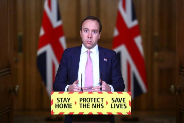 GBR: UK Health Minister Hosts The Downing Street Virtual Press Conference On Coronavirus