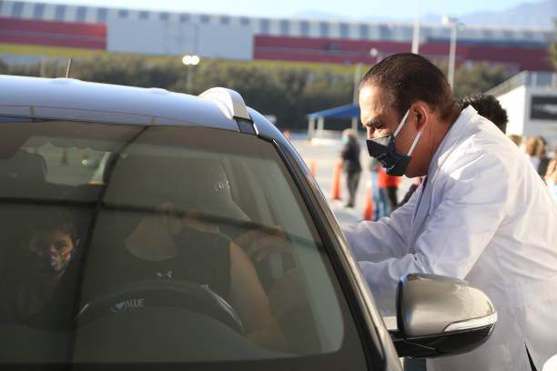 MEX: Massive Influenza Vaccination At Arena Monterrey
