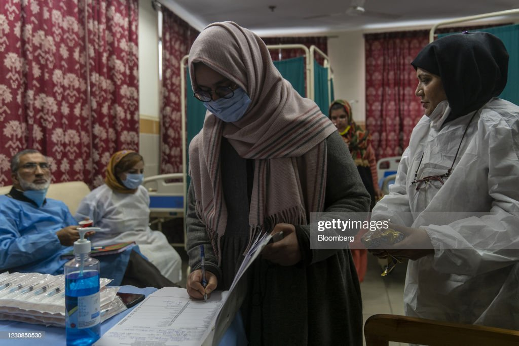 Covid-19 Vaccinations at Super Speciality Hospital as India Plans to Innoculate 300 Million by July : News Photo