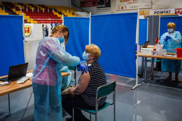 POL: Sports Centre Turned Covid-19 Vaccination Hub