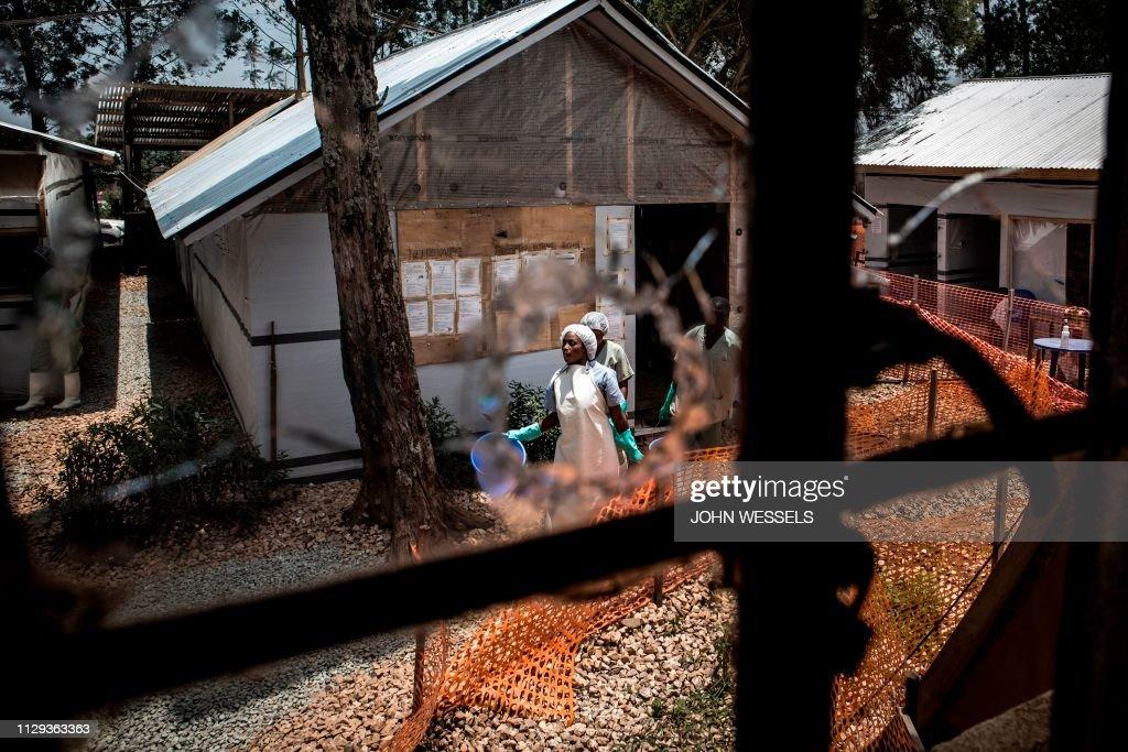 TOPSHOT-RDCONGO-HEALTH-EBOLA-ATTACK : News Photo