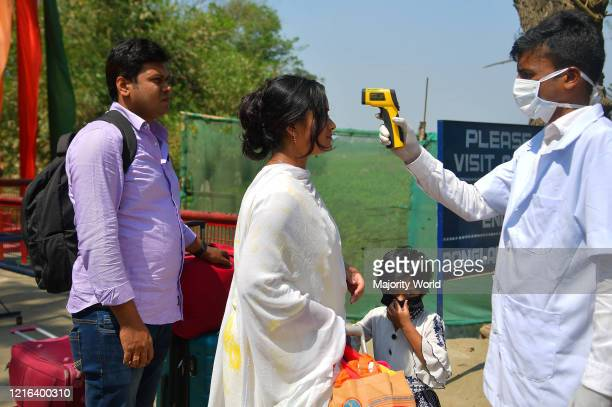 Health workers are using infrared thermometers to check travellers who are coming from Bangladesh as the state government of Tripura declared as a...