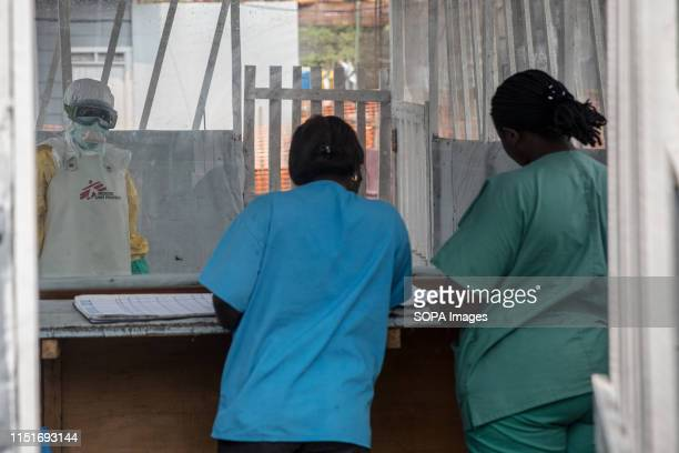 Health workers at a Treatment centre in Goma DR Congo is currently experiencing the second worst Ebola outbreak in recorded history More than 1400...
