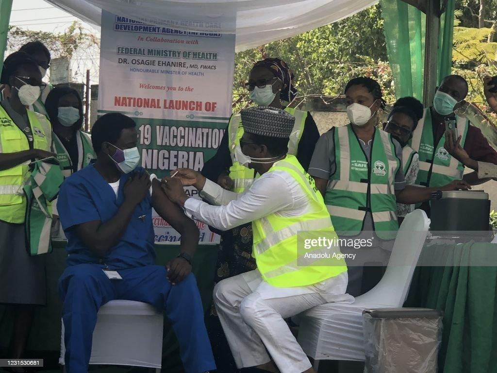 Covid-19 vaccination campaign in Nigeria starts : News Photo