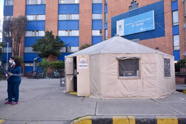 COL: El Tunal Hospital Sets Emergency Tent Amidst Coronavirus Pandemic