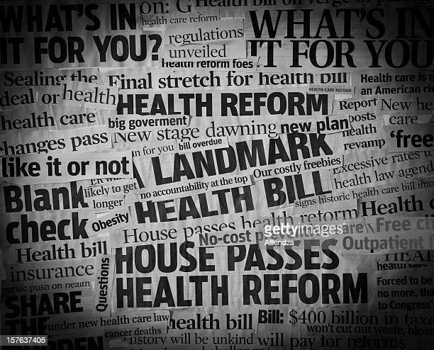 healthcare bill Headline Collage
