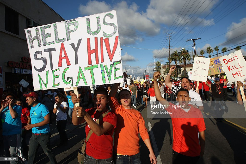 AIDS Patients Protest Proposed State Cuts To AIDS Services Programs : News Photo