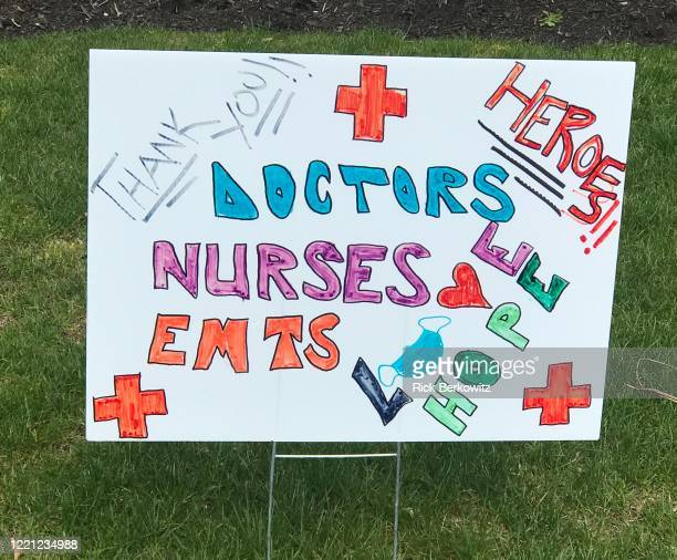 healthcare heroes sign - hero and not superhero stock pictures, royalty-free photos & images