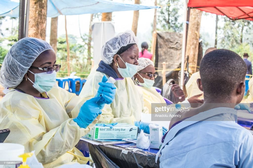 Precautions against the Ebola epidemic in Democratic Republic of the Congo : News Photo