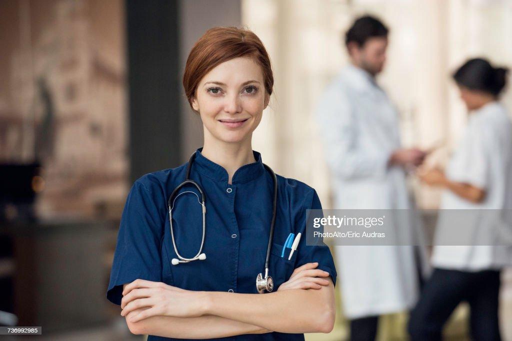 Healthcare professional, portrait : Stock Photo
