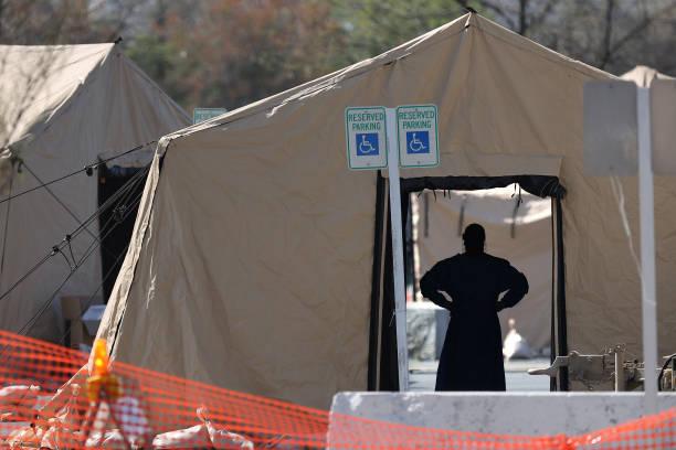 MD: Coronavirus Testing Site Set Up At FedEx Field In Landover, Maryland