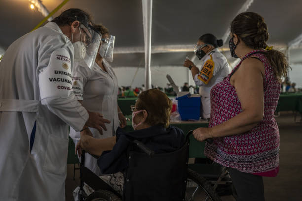 MEX: A Vaccination Site As 14 Million Doses Administered In Mexico