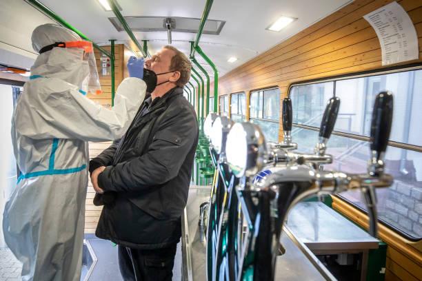 CZE: Beer Tram Turned Covid-19 Testing Site