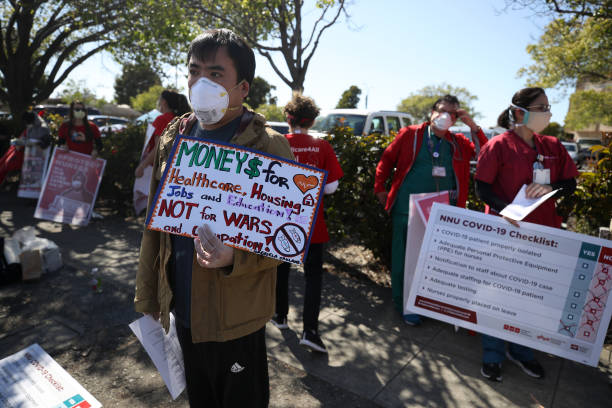 CA: California Nurses Association Rallies For Safer Working Conditions During COVID-19 Pandemic