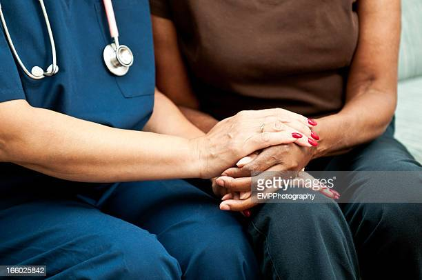 Healthcare Worker's Comforting Hands