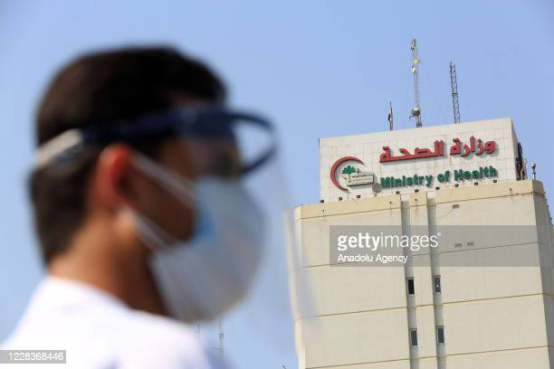 Healthcare workers gather to stage a protest in front of the Health Ministry building, demanding improvement of working conditions, able to obtain...