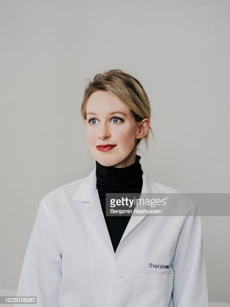 Healthtechnology entrepreneur founder and former CEO of Theranos Elizabeth Holmes is photographed for Bloomberg Businessweek on December 4 2015 in...
