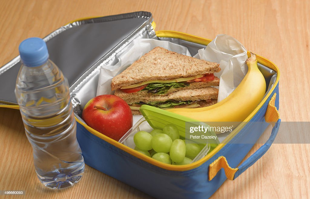Healthy 5-a-day lunch box : Stock Photo