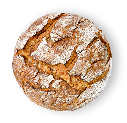 Healthy baked bread, whole bread on white 1066110650