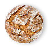 Healthy baked bread, whole bread on white