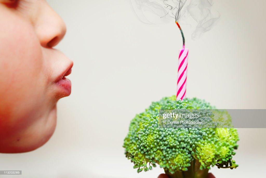 Healthy birthday celebration : Foto de stock