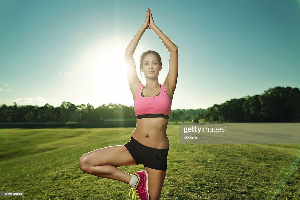 Healthy body + healthy mind : Stock Photo
