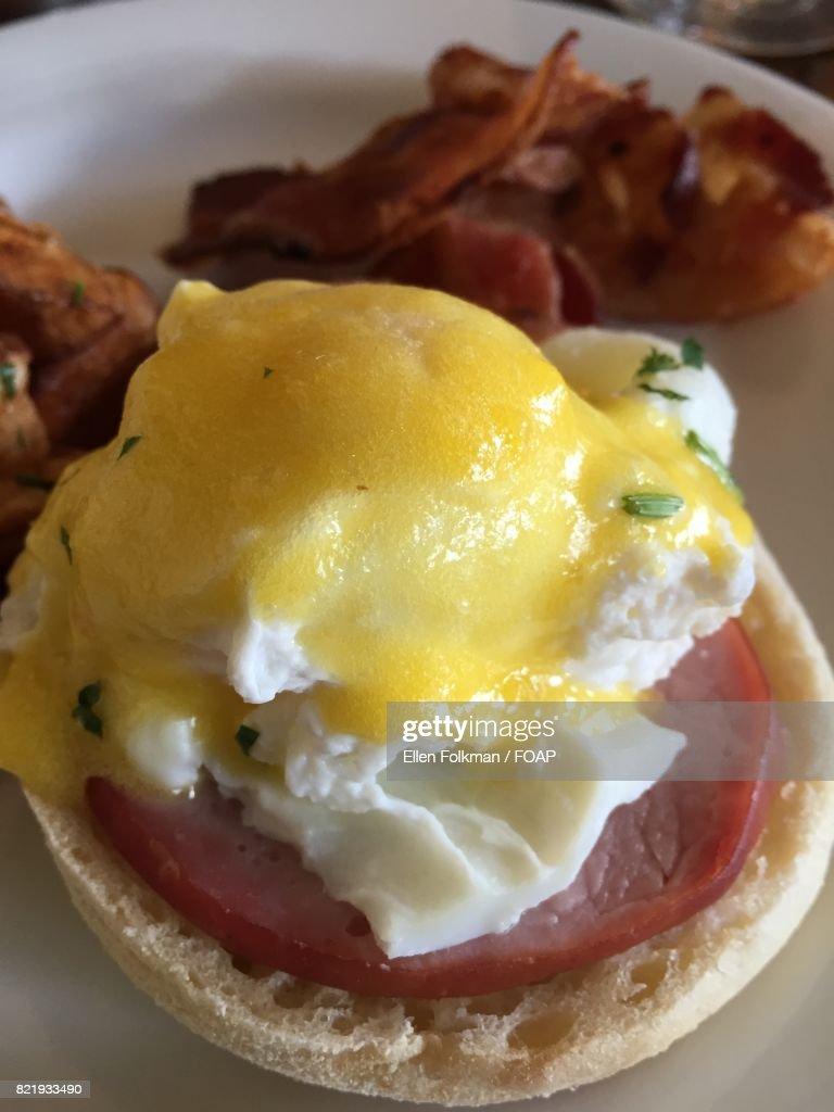 Healthy breakfast on table : Stock Photo