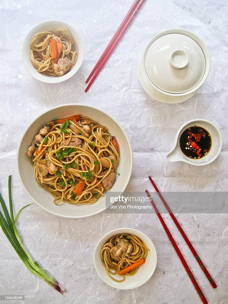 Healthy Chicken Chow Mein : Stock Photo