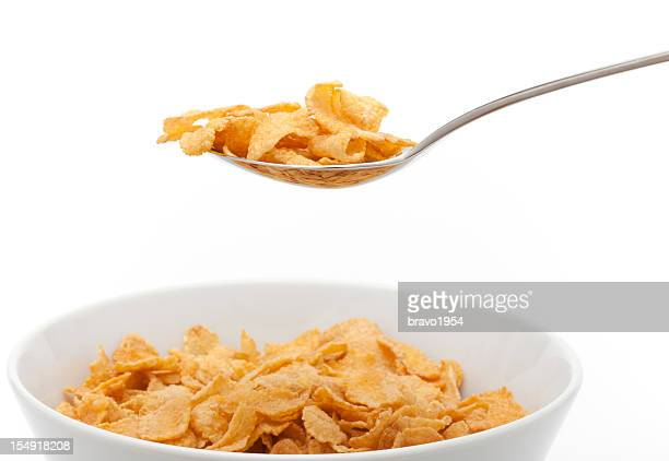 Healthy cornflakes for breakfast .