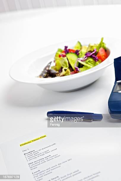 Gesunde Diabetische Mahlzeit mit diabetes Geräte
