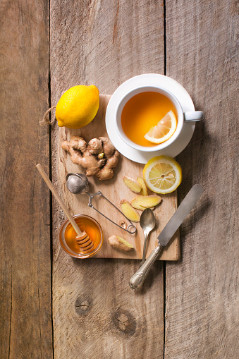 Healthy drink honey lemon ginger tea. - gettyimageskorea