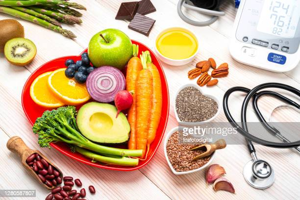 healthy eating and blood pressure control for a better living - lower stock pictures, royalty-free photos & images