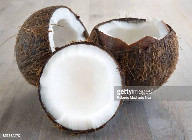 Healthy eating: close up to a coconut fruit in the natural condition