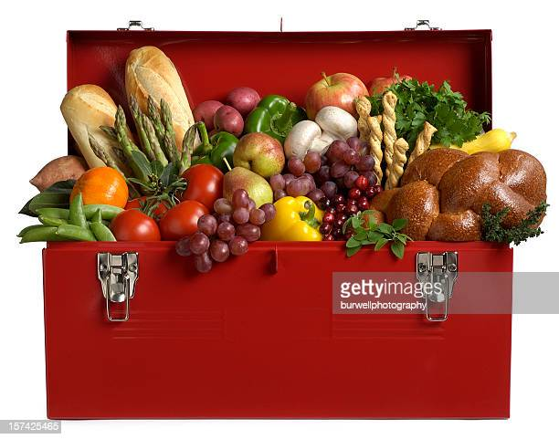 Healthy Eating, Cornucopia of Fruits and Vegetables in a Toolbox