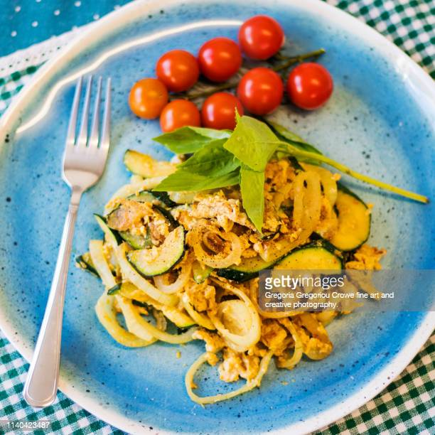 healthy eating - courgette dinner - gregoria gregoriou crowe fine art and creative photography. stock pictures, royalty-free photos & images