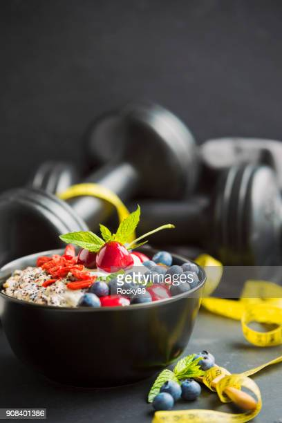 healthy eating – porridge - food and drink stock pictures, royalty-free photos & images