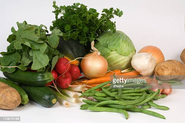 Healthy Eating Variety of Fresh Vegetables in Arrangement