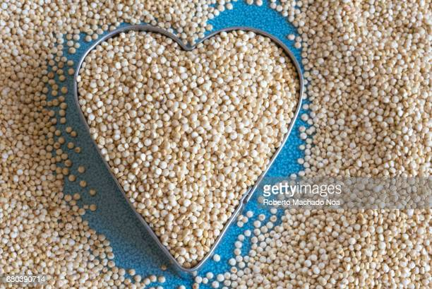 Healthy eating white quinoa seeds Quinoa is the common name for Chenopodium quinoa a flowering plant in the amaranth family Amaranthaceae It is a...